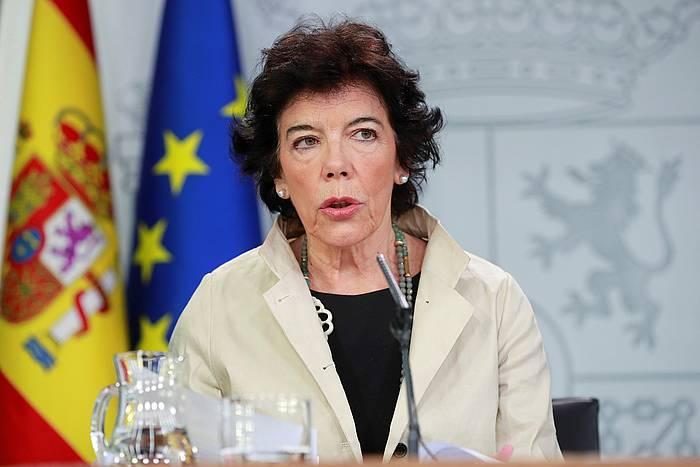 Isabel Zelaa Espainiako Gobernuko Hezkuntza ministroa