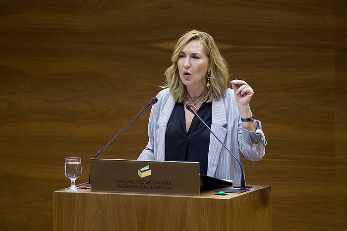 Ana Beltran parlamentaria, artxiboko argazki batean. / ©Iñigo Uriz, Foku