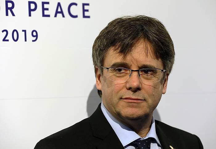 Carles Puigdemont Kataluniako presidente kargugabetua, artxiboko irudi batean.