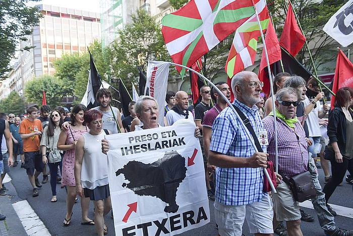 Euskal preso eta iheslarien eskubideen eta amnistiaren alde egindako manifestazio bat, artxiboko irudian. ©Idoia Zabaleta, Foku