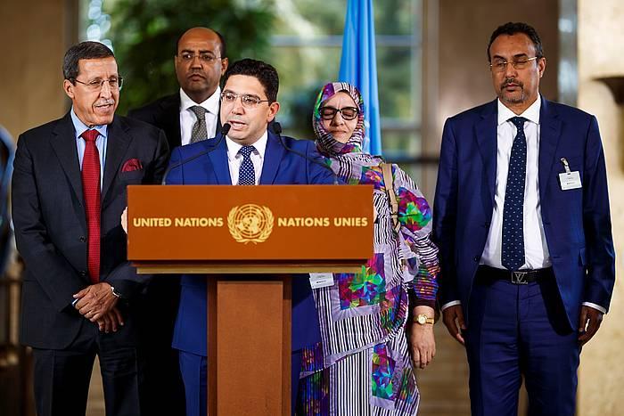 Marokoko delegazioa, gaur, Genevan (Suitza).