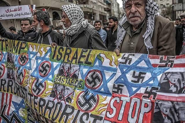 Preso palestinarren aldeko mobilizazioak egin dituzte Gazan, gaur.