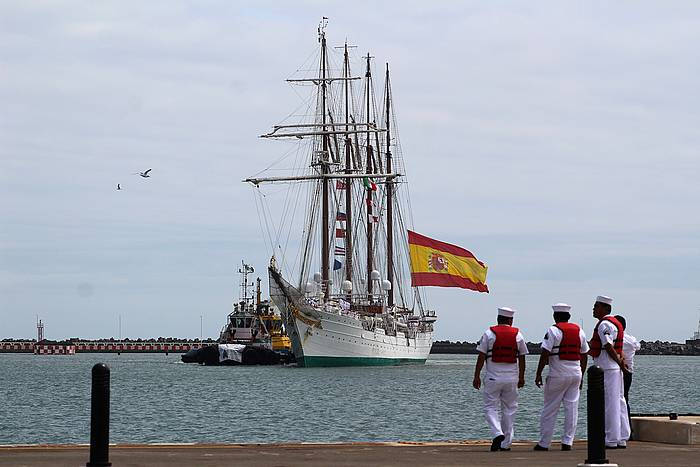 'Juan Sebastian Elcano' ontzia, joan den astean, Mexikon. ©Víctor Hugo Yáñez Ramos, EFE.