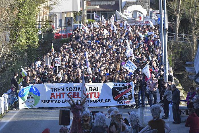 Manifestariak, gaur, Altsasun. ©Idoia Zabaleta - Foku