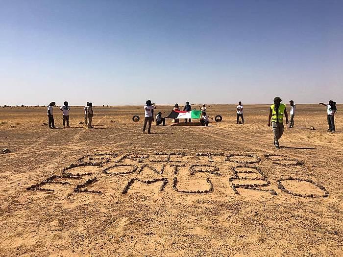 Marokok Mendebaldeko Saharan eraikitako harresiaren kontrako protesta, lurralde liberatuetan.