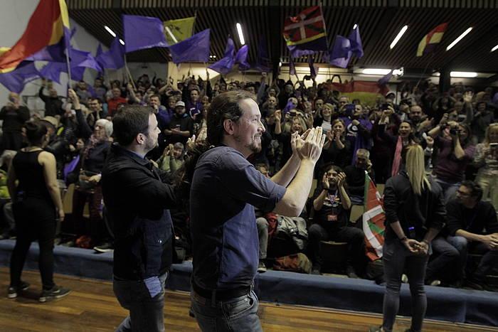 Unidas Podemosen mitina, Eibarko Astelena pilotalekuan. ©Aritz Loiola, Foku