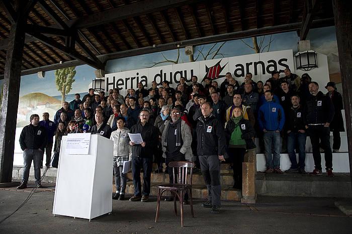 EIPK-ko kideak, 2014an, Arrangoitzen egindako agerraldi batean. ©Juan Carlos Ruiz, Foku