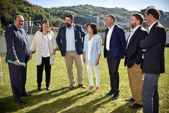 Ortuzar, Llaneras, Piñeiro, Bilbao, Padilla, Bertomeu eta Innerarity, CEUSen aurkezpenean. / ©Miguel Toña, EFE