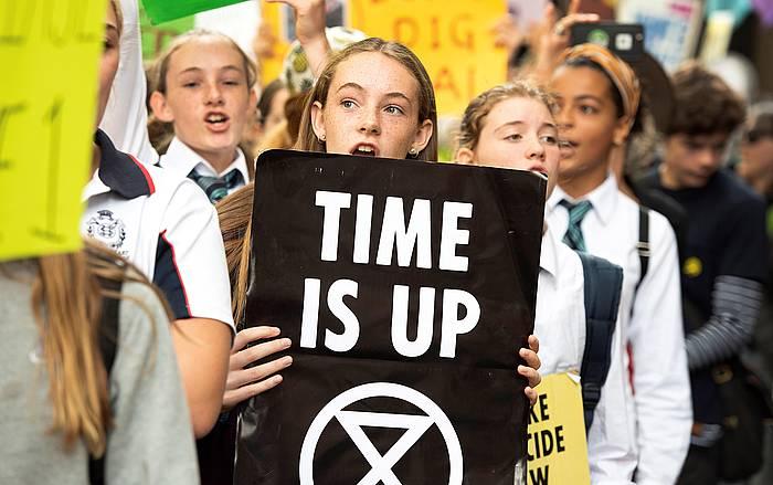 'Fridays For Future' [Etorkizunerako Ostiralak] mugimenduaren protesta bat. ©ELLEN SMITH, EFE
