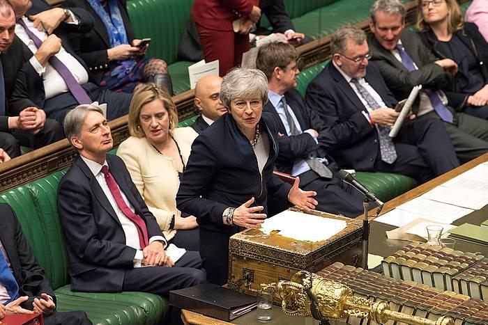Theresa May lehen ministroa, Erresuma Batuko Parlamentuan, joan den apirilean. /