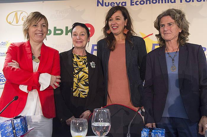 H BILDU. EH Bilduren hautagaien agerraldia, astelehenean, Nueva Economia foroan.