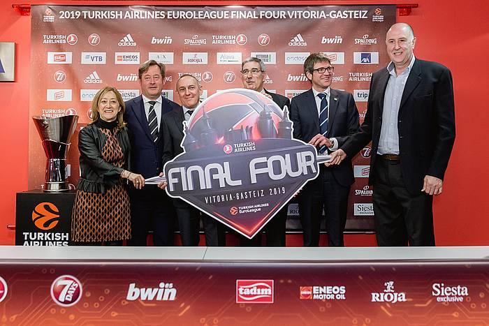 Gasteizko Final Four lehiaketaren aurkezpena, otsailean. ©Jon Rodríguez Bilbao, EFE.