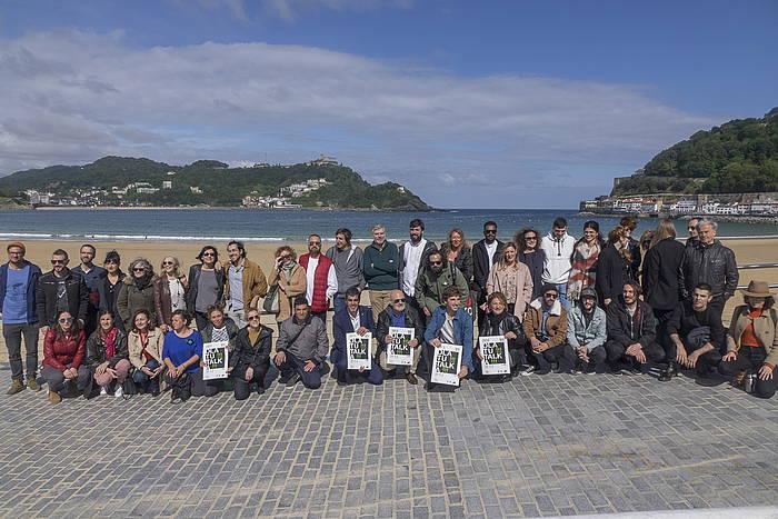 Aurtengo Olatu Talkan parte hartuko duten hainbat kide eta instituzioetako ordezkariak, gaur goizean, Donostian. ©Andoni Canellada / Foku