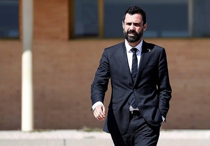 Roger Torrent, joan den astean, Soto del Real (Madril) kartzelatik ateratzen, preso indendentista katalanak bisitatu ondoren. ©Mariscal / EFE