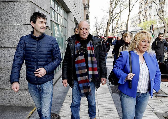 Errazki, Garitano eta Intxaurradieta, Madrilen, Kotu Auzitegian deklaratu zutenean, iazko apirilean