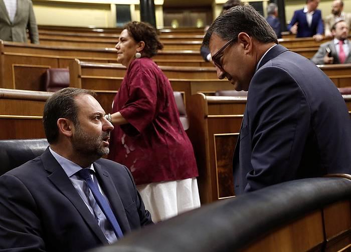 Jose Luis Abalos eta Aitor Esteban, iazko uztailean, Espainiako Kongresuan. ©Kiko Huesca / Efe