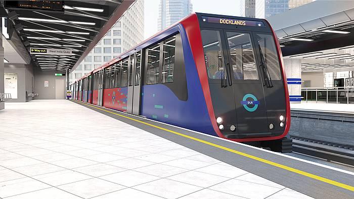 CAFen tren diseinua Londresko DLR sarerako.