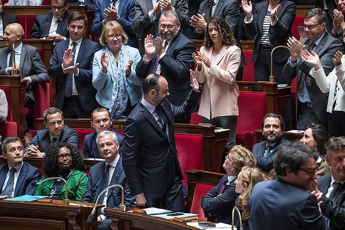 Edouard Phillippe Frantziako lehen ministroa, Asanblea Nazionalean.