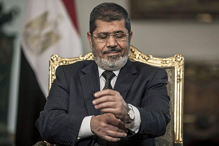 Mohammed Mursi, 2013ko irudi batean, presidente zenean. ©Oliver Weiken / Efe