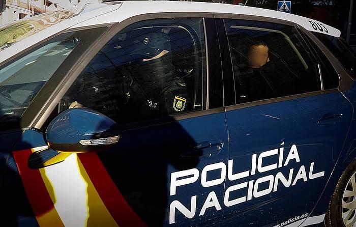 Espainiako Poliziaren ibilgailu bat, artxiboko argazki batean. /