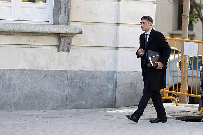 Trapero, iragan martxoan, Espainiako Auzitegi Gorenera iristen. ©EFE
