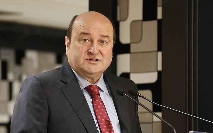 Andoni Ortuzar EAJren EBBko presidentea, joan den maiatzean, Bilbon.