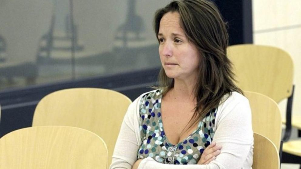 Ainhoa Gartzia Montero, 2012an, Espainiako Auzitegi Nazionalean, epaitu zutenean.