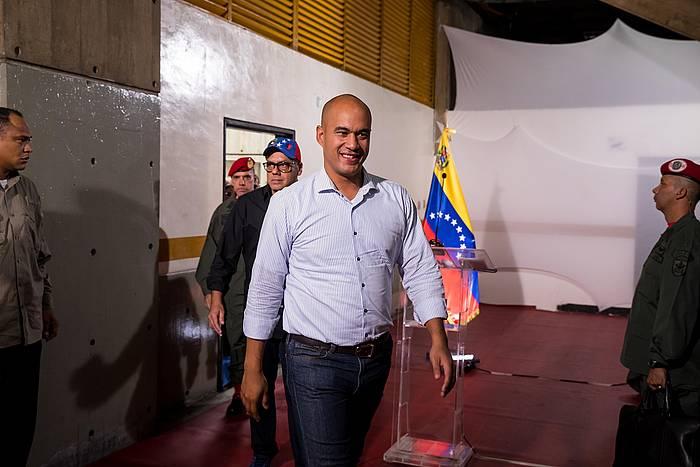 Hector Rodriguez Miranda estatu venezuelarreko gobernadorea, artxiboko irudi batean.