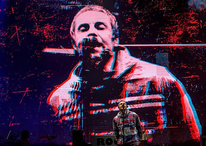 Liam Gallagher, atzoko kontzertuan. ©Javier Zorrila / Foku
