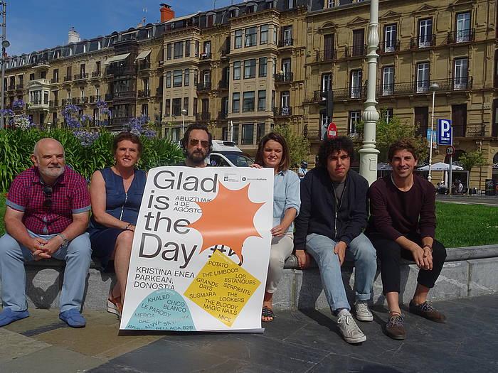Glad is The Day jaialdiaren 5. edizioaren aurkezpena, gaur goizean, Donostian. ©Donostia Kultura