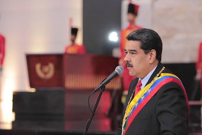 Nicolas Maduro Venezuelako presidentea, atzo, gobernuaren ekitaldi batean. ©EFE