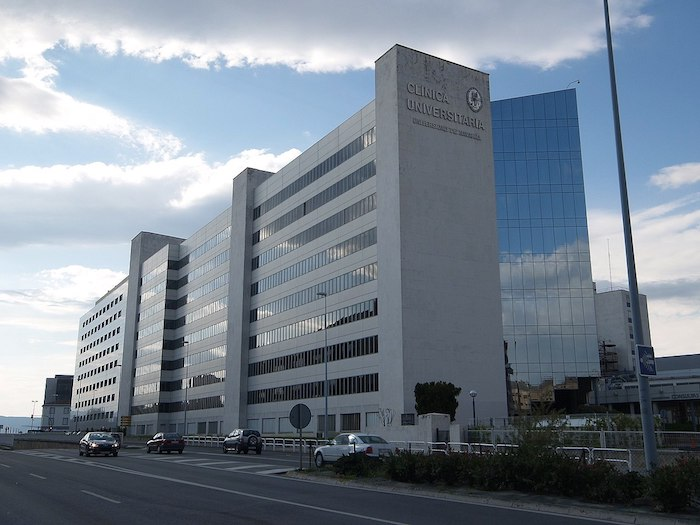 Nafarroako Unibertsitatea klinikaren Iruñeko egoitza.