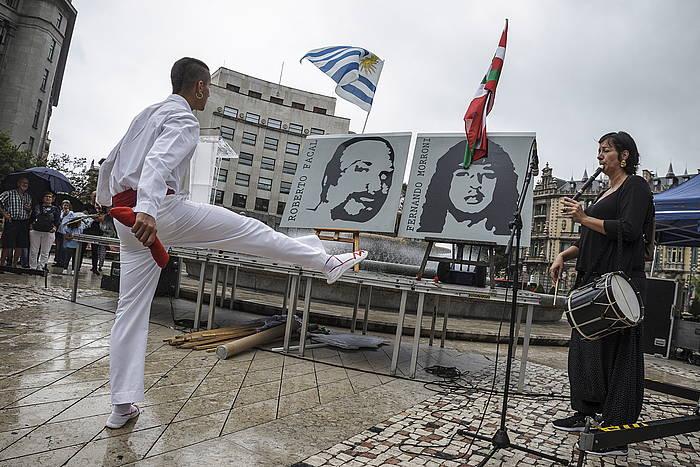 Filtroko sarraskiaren omenaldia, iaz, Kalera kalera ekimenaren manifestazioaren aurretik. / ©Aritz Loiola, Foku