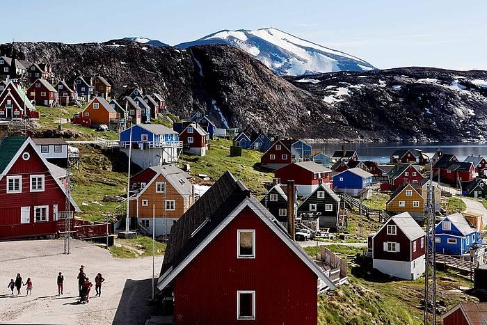 Upernavik herriko ikuspegia, Groenlandia mendebaldean.
