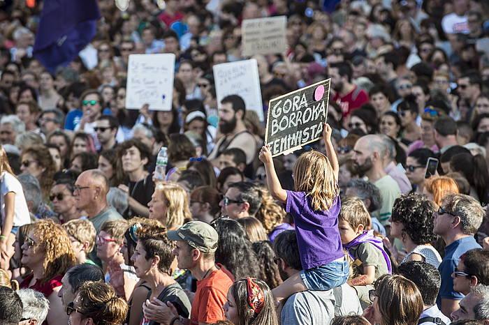 Talde bortxaketa gaitzesteko protesta Bilbon. ©Marisol Ramirez, Foku
