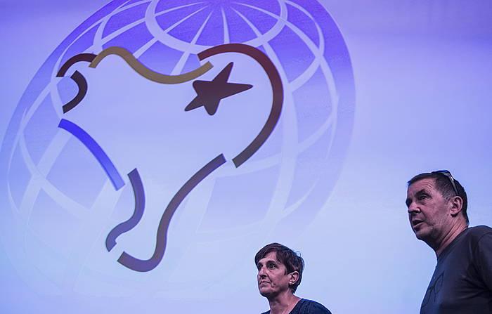 Arnaldo Otegi, G7koen aurkako kontragailurrean. ©Jagoba Manterola / Foku