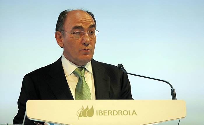 Ignacio Sanchez Galan, Iberdrolako presidentea, konpainiako akziodunen batzar nagusian. ©Luis Tejido / EFE