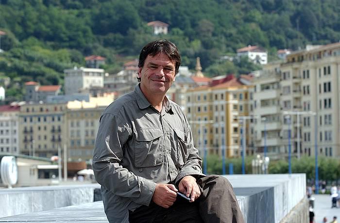 Neil Jordan, 2002an, Donostian, The Good Thief filma aurkeztu zuenean. ©Juan Carlos Ruiz / Foku