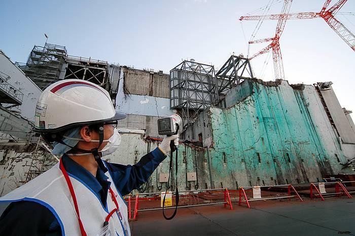 Fukushimako zentral nuklearra, tsunamiaren ostean. /