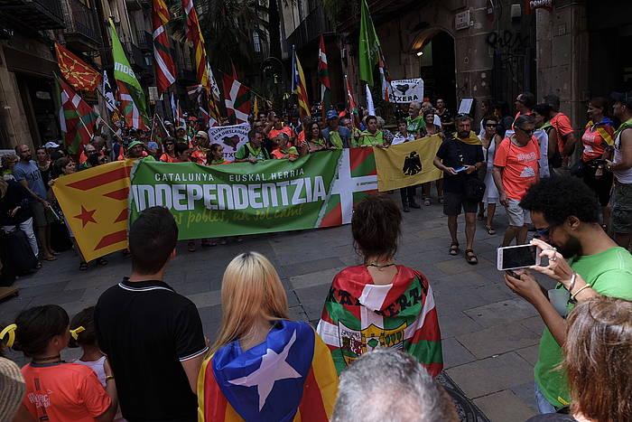 Independentistak sareko kideak, iaz, Diadan.