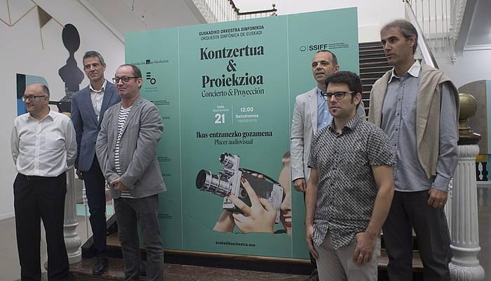 'Kontzertua & Proiekzioa' proiektuan parte hartuko duten erakundeen ordezkariak ©Juan Carlos Ruiz/Foku