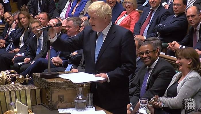 Boris Johnson Erresuma Batuko lehen ministroa, irailaren 9an, Parlamentuko saio batean.