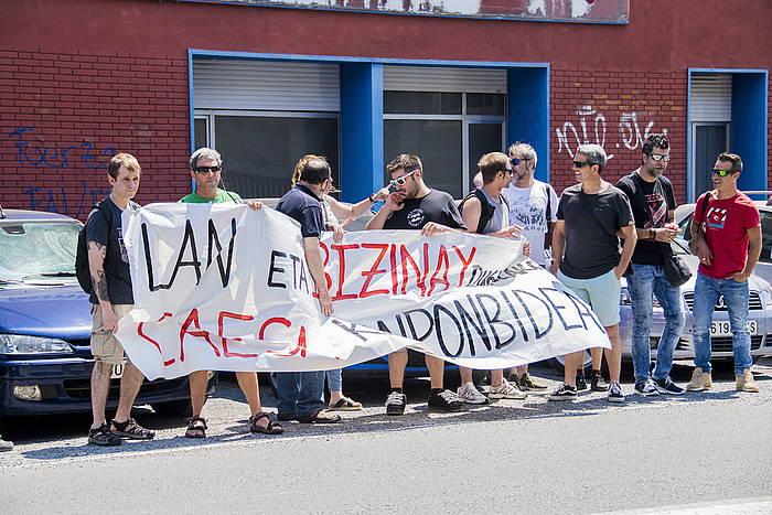 Langileen protesta, artxiboko irudian. ©JUNE PRIETO / FOKU