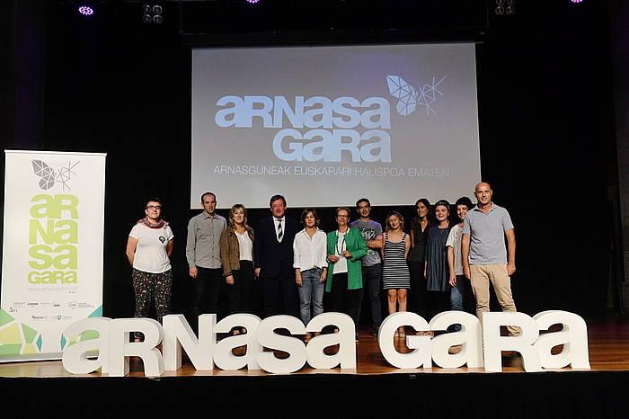 Arnasguneen babeserako 'Arnasa Gara' proiektuaren aurkezpen agerraldia.