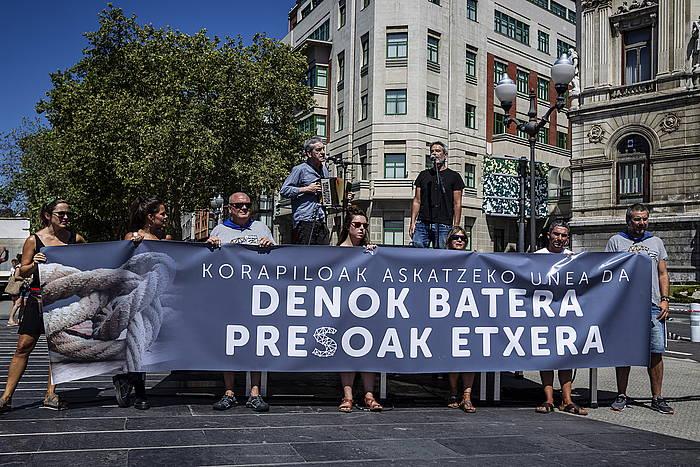 Euskal presoen aldeko manifestazio bat, abuztuan, Bilbon. /