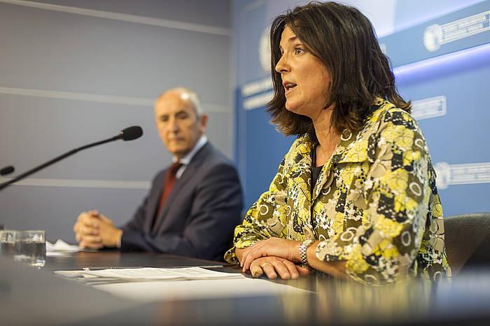 Beatriz Artolazabal sailburua, artxiboko argazki batean. /