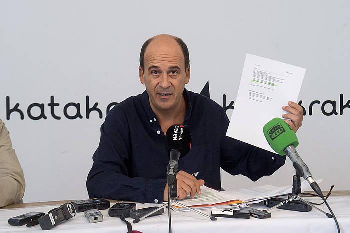 Patxi Zamora Kontuz elkarteko eleduna, iazko urrian