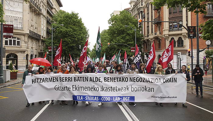 Kristau Eskolako gatazkaren harira egindako manifestazio bat./
