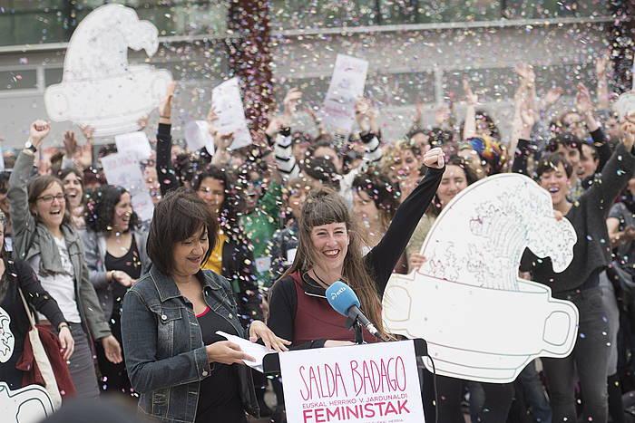 Euskal Herriko V. Jardunaldi Feministen aurkezpena, maiatzaren 11an, Durangon (Bizkaia). ©Juan Carlos Ruiz, Foku