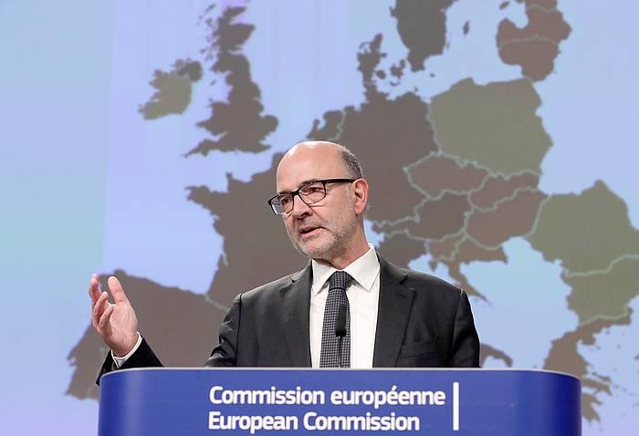 Pierre Moscovici Europako Batzordeko Ekonomia komisarioa.